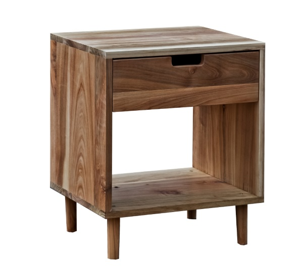 Single drawer bedside table in australian blackwood hmr homes single drawer bedside table watchthetrailerfo